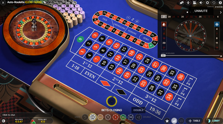 auto roulette speelronde