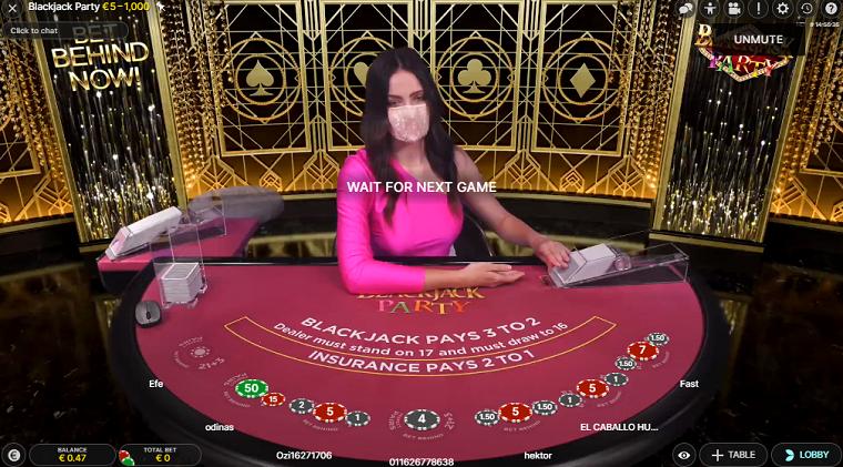 blackjack party begin