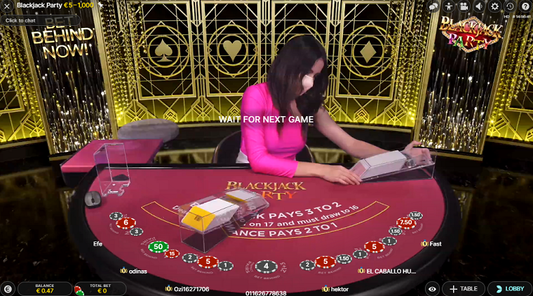 blackjack party kaarten