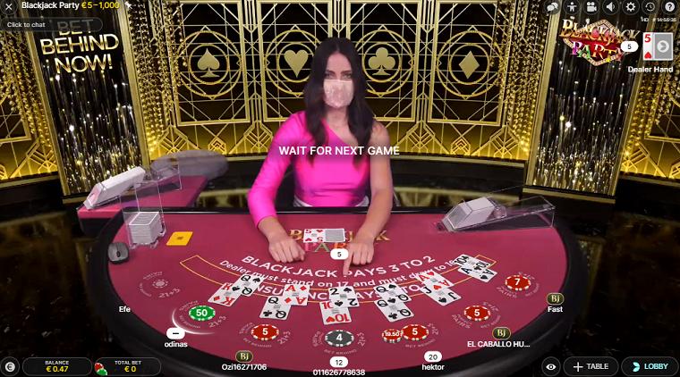 blackjack party speelronde
