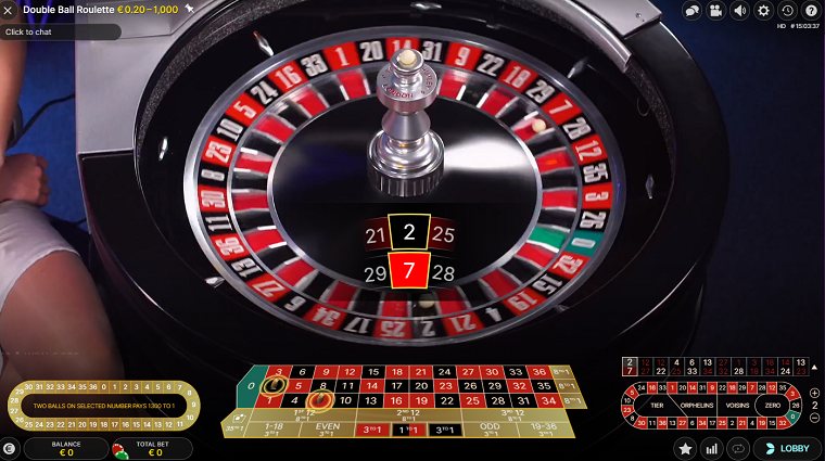double-ball roulette uitslag officieel