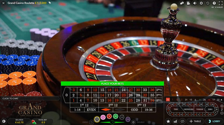 dual play roulette speelronde