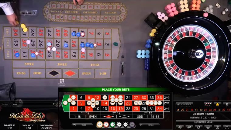 dual play roulette speeltafel