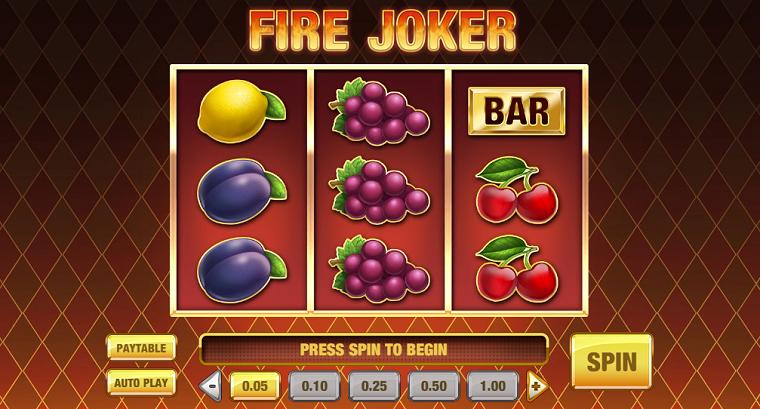 fire joker beginscherm