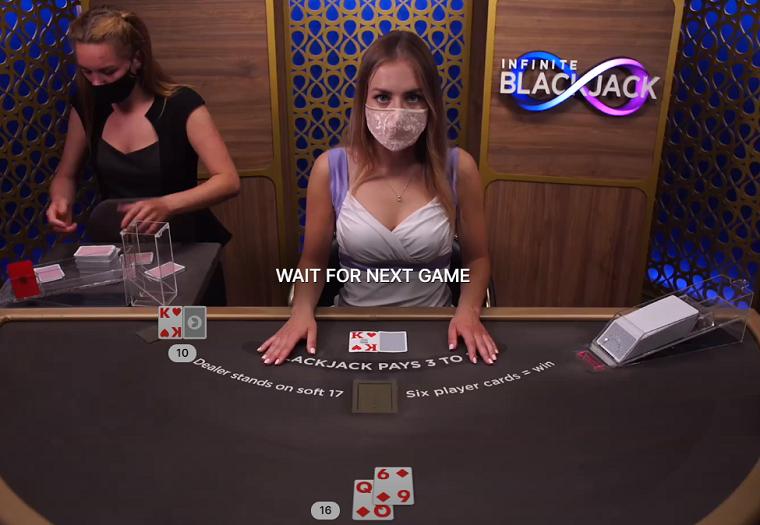 infinite blackjack speelkaarten