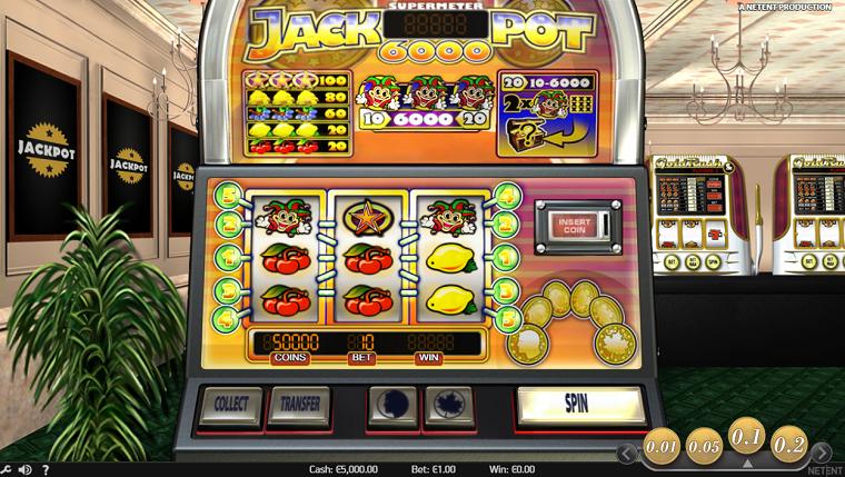 jackpot 6000 beginscherm