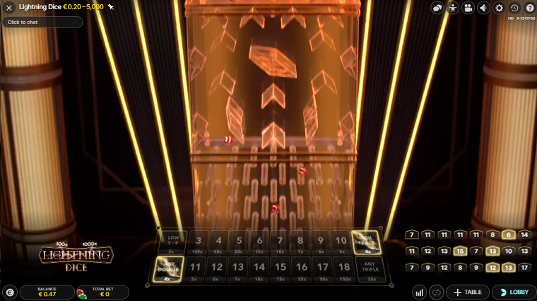 lightning dice speelronde