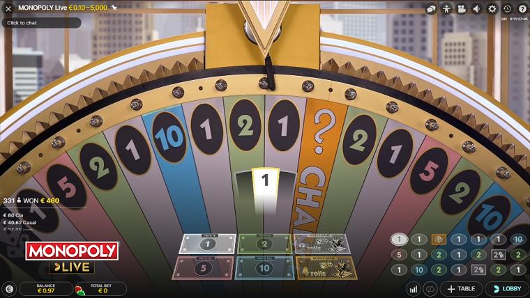monopoly live draaibeurt