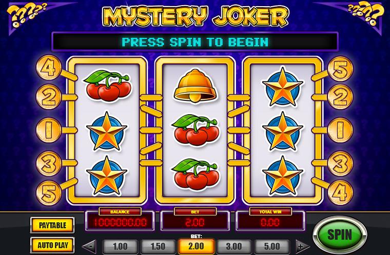 mystery joker beginscherm