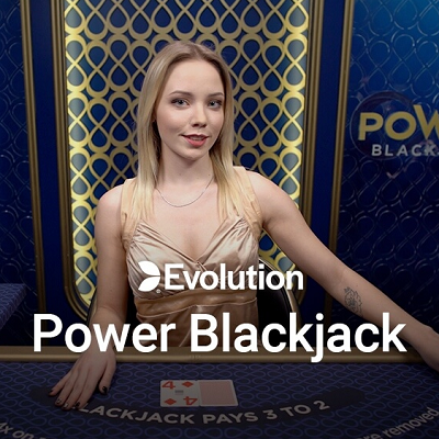 power blackjack live logo