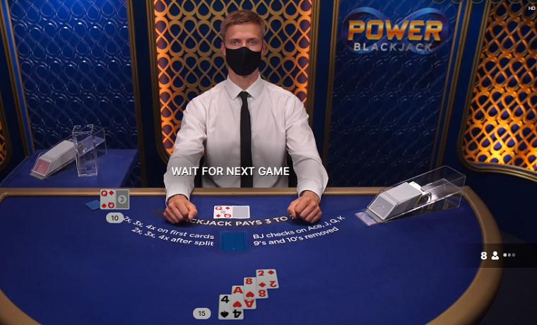 power blackjack speelkaarten