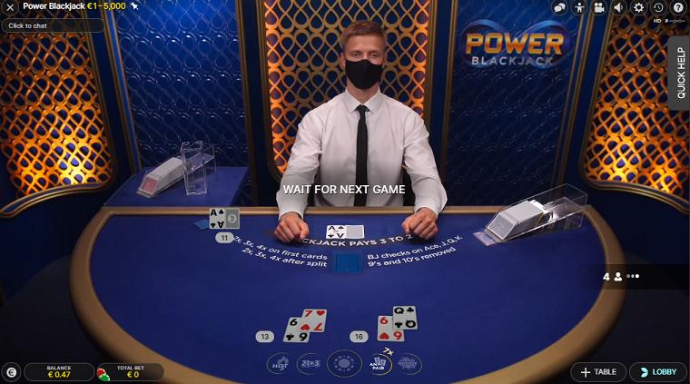 power blackjack speelronde