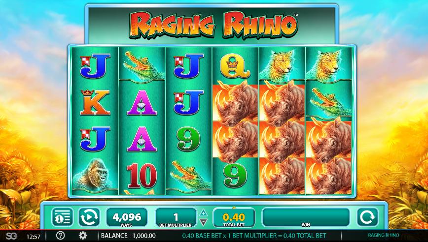 raging rhino beginscherm