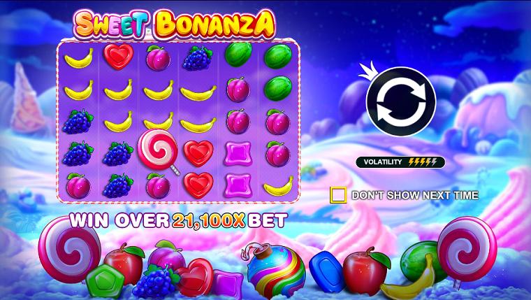 sweet bonanza beginscherm