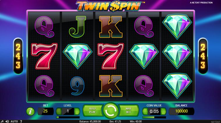 twin spin beginscherm