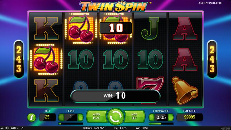 twin spin gewonnen
