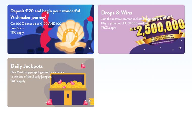 wishmaker casino promotions